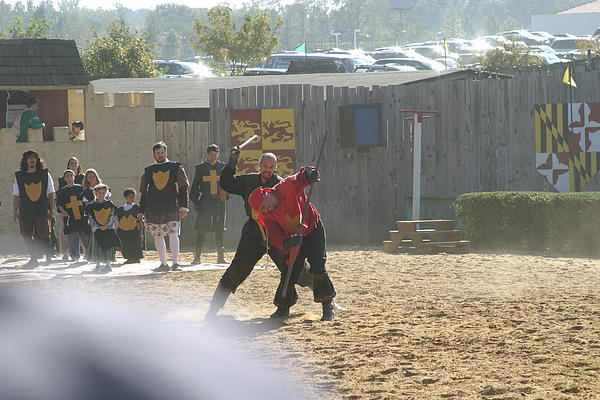 Maryland Renaissance Festival - Jousting And Sword Fighting - 121275 Print by DC Photographer