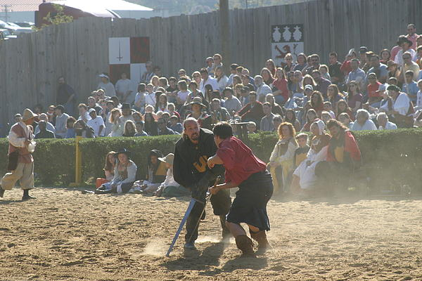 Maryland Renaissance Festival - Jousting And Sword Fighting - 121297 Print by DC Photographer