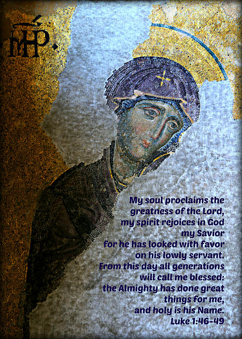 Mary's Magnificat Print by Stephen Stookey