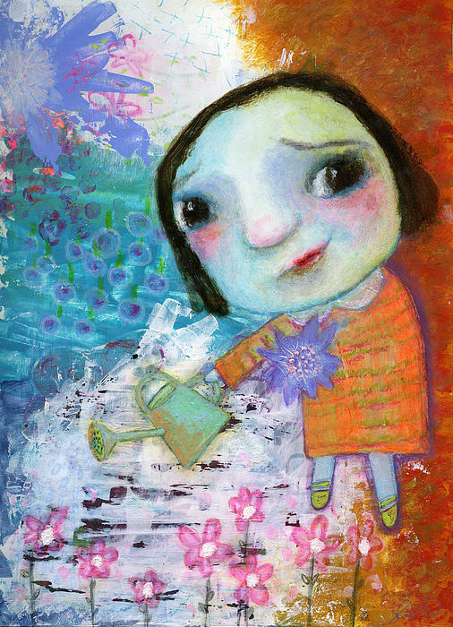 Mary's Quite Contrary Print by Shirley Dawson