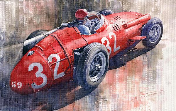 Maserati 250f J M Fangio Monaco Gp 1957 Print by Yuriy  Shevchuk