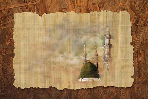 Masjid E Nabwi 01 Print by Catf