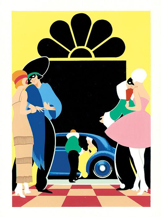 Masked Ball Print by Brian James