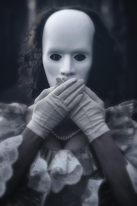 Masked Woman Print by Joana Kruse
