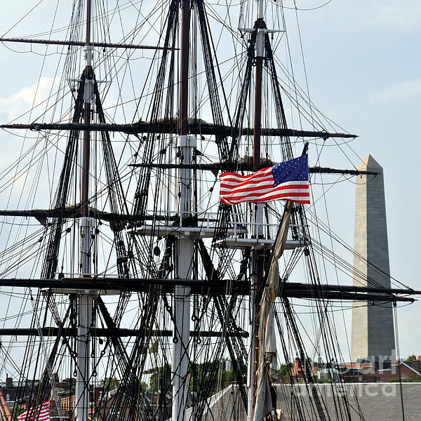 Mast And Flag Print by Cheryl McClure