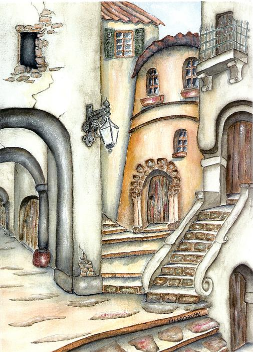 Matera Print by Pamela Allegretto