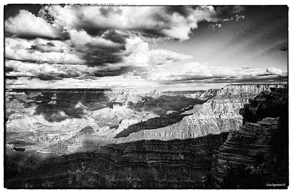 Clouds View From Mather Point  Print by Lisa  Spencer