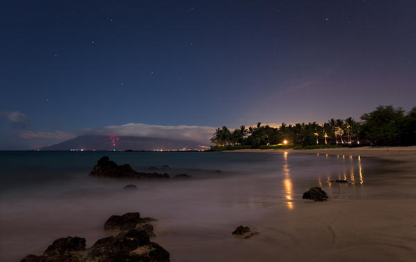 Maui By Night Print by James Roemmling