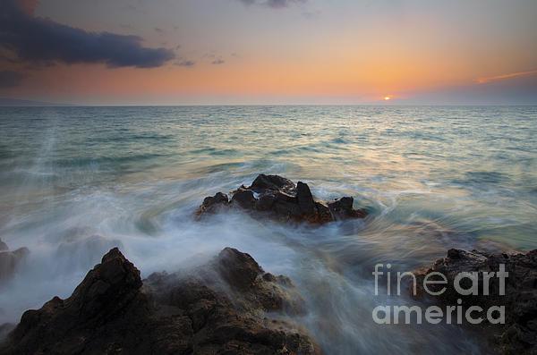 Maui Tidal Swirl Print by Mike  Dawson