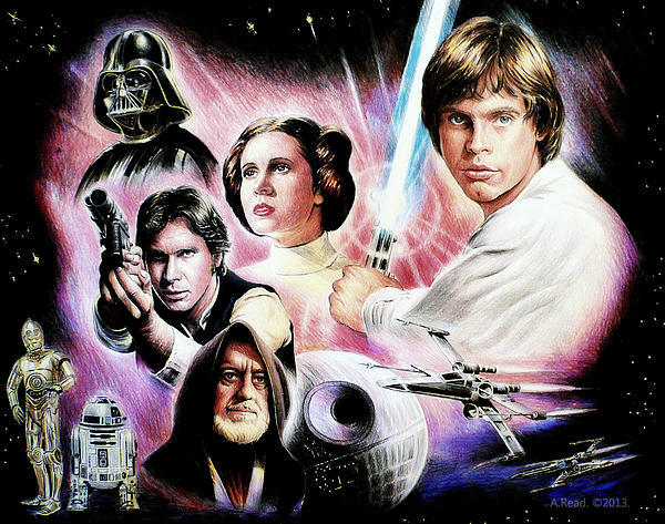May The Force Be With You 2nd Version Print by Andrew Read