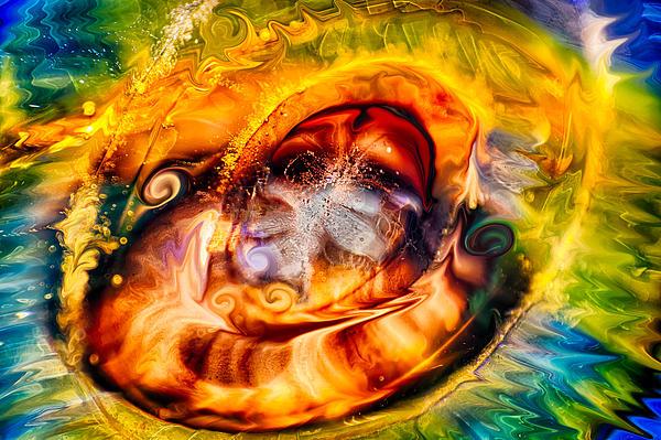 Mayan God Print by Omaste Witkowski