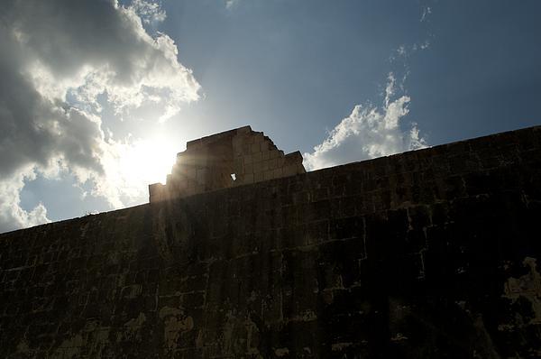 Mayan Ruins Ball Court Print by Shaun Maclellan