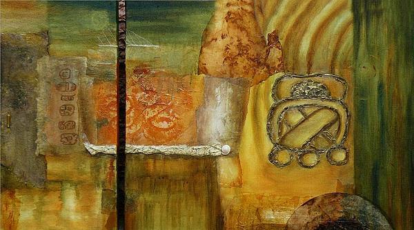 Mayan U O Print by Gilda Pontbriand