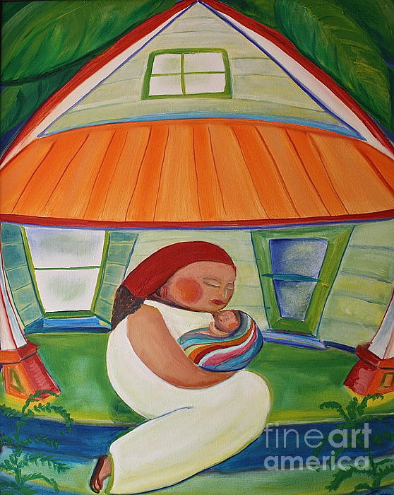 May's Baby Print by Teresa Hutto