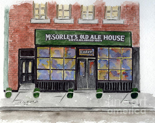 Mcsorley's Old Ale House Print by AFineLyne