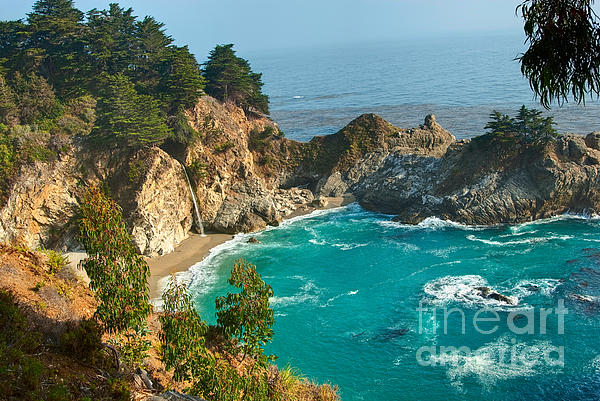 Mcway Falls Along The Big Sur Coast. Print by Jamie Pham