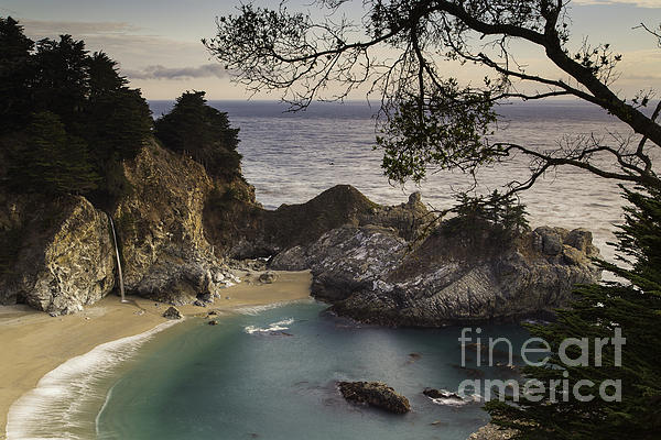 Mcway Falls Print by Michele Steffey