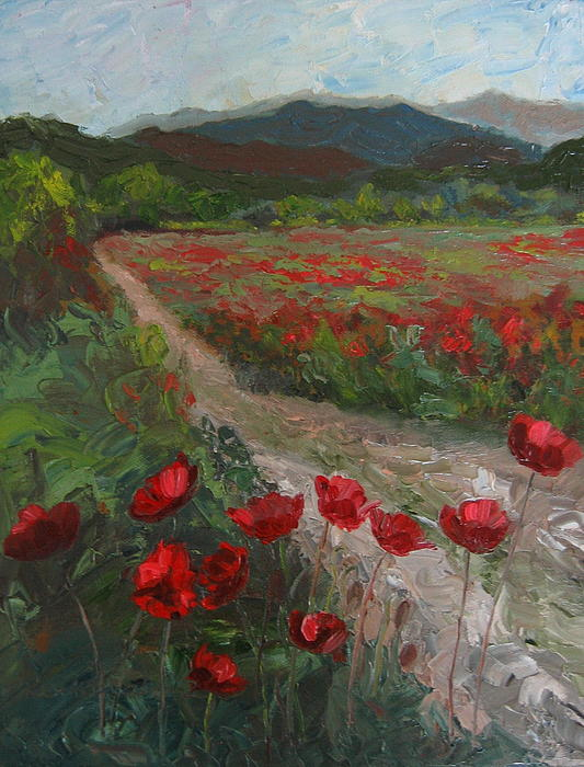 Susan Richardson - Meadow With Poppies
