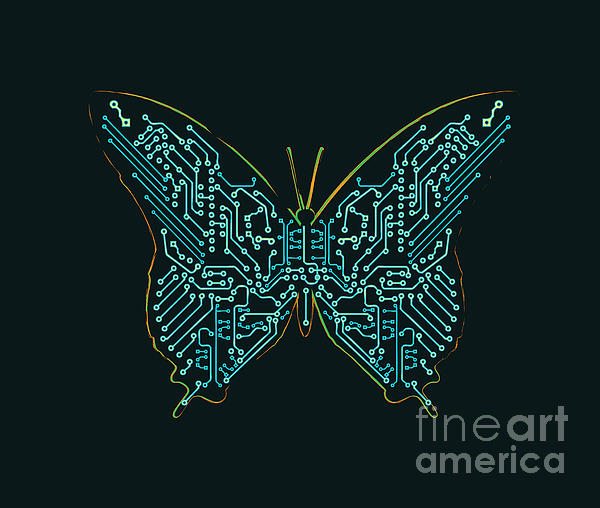 Mechanic Butterfly Print by Budi Satria Kwan