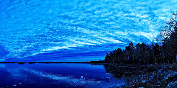 Meddybemps Blues 3 Print by Bill Caldwell -        ABeautifulSky Photography
