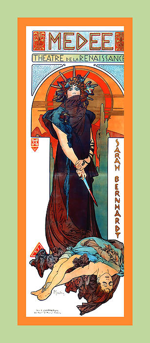 Medee Print by Alphonse Maria Mucha