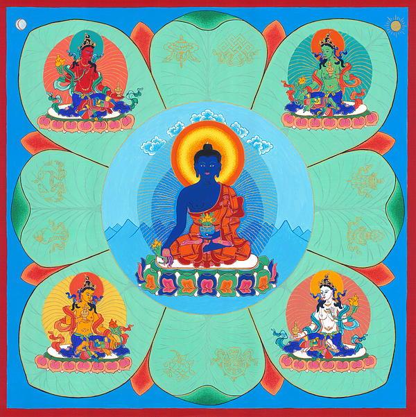 Medicine Buddha Print by Ies Walker