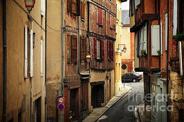 Medieval Street In Albi France Print by Elena Elisseeva