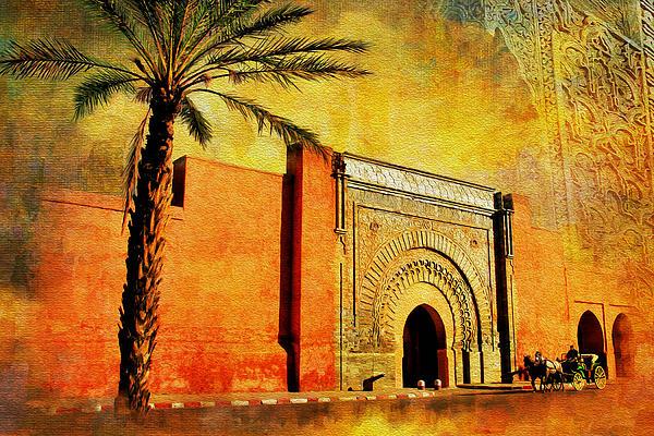 Medina Of Marakkesh Print by Catf