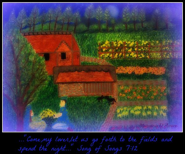 Meditation Number 4 Song Of Songs Print by Maryann  DAmico
