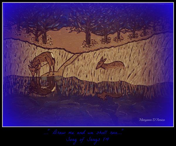 Meditation Number 6 Song Of Songs Print by Maryann  DAmico