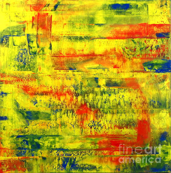 Meditation On Primary Colors Print by J Loren Reedy
