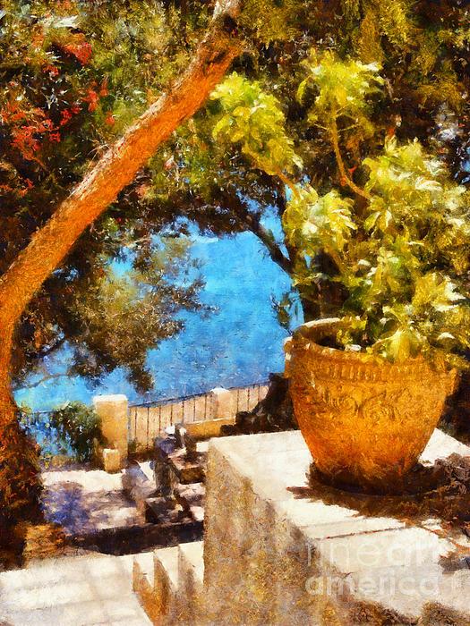 Mediterranean Steps Print by Pixel Chimp