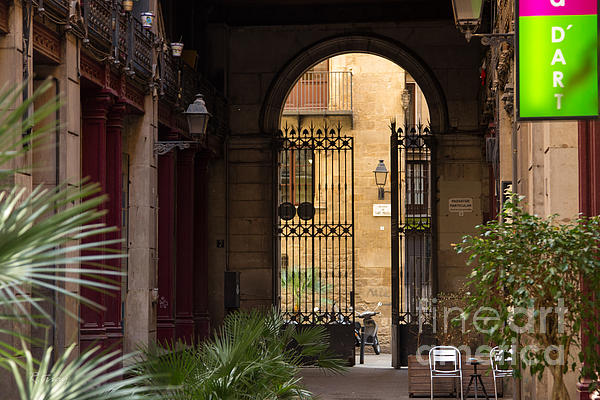 Meet Me For Coffee In The Courtyard Print by Rene Triay Photography