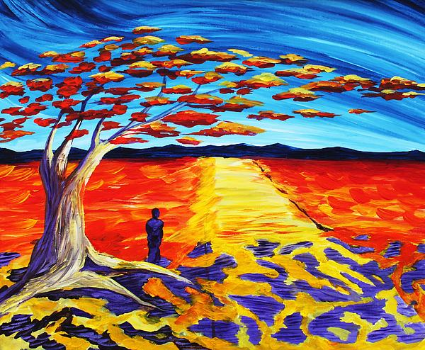 Meet Me Under The Flamboyant Tree Print by Angel Reyes