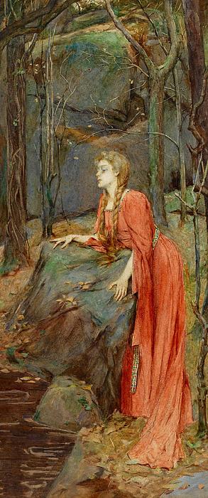 Melisande Print by Henry Meynell Rheam