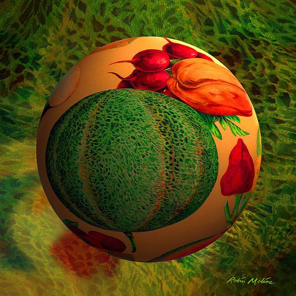 Melon Ball  Print by Robin Moline