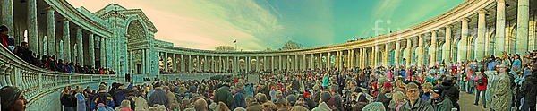 Memorial Amphitheater At Arlington National Cemetery Print by Tom Gari Gallery-Three-Photography