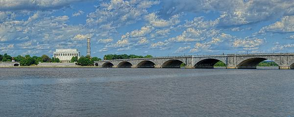 Memorial Bridge After The Storm Print by Metro DC Photography