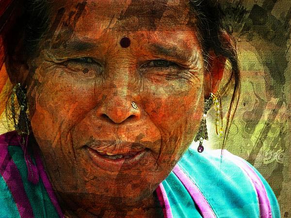Sue Jacobi - Memories Nostalgia - Woman Portrait Rajasthani India Udaipur