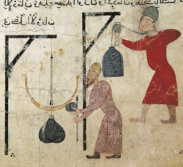 Men Weighing Goods. Fatimid Period Print by Everett
