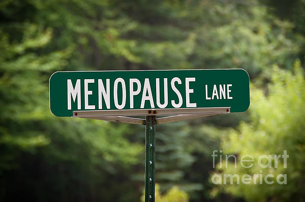 Menopause Lane Sign Print by Sue Smith