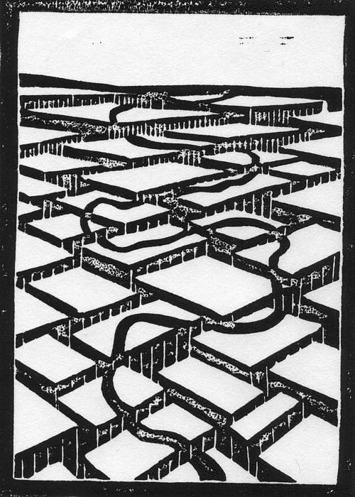 Mental Journey Print by Mike Rhineheart