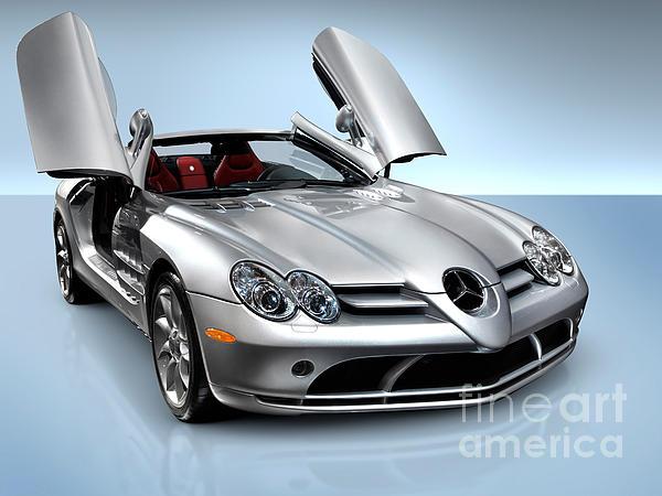 Mercedes Benz Slr Mclaren Print by Oleksiy Maksymenko