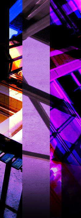 Merged - Purple City Print by Jon Berry