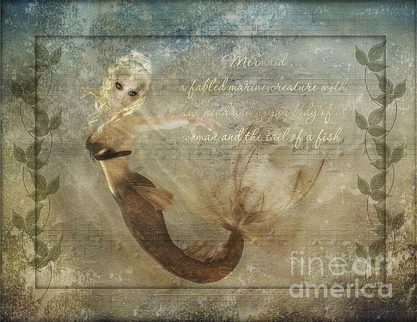 Mermaid-2 Photoart Print by Becky Hayes