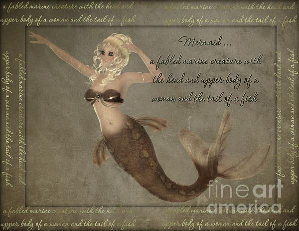 Mermaid-5 Photoart Print by Becky Hayes