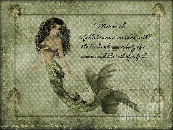Mermaid Photoart Print by Becky Hayes
