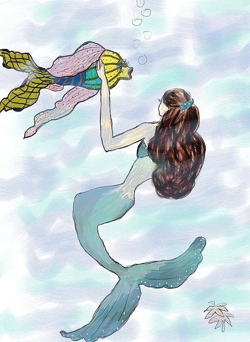 Rosalie Scanlon - Mermaid with a Big Fish