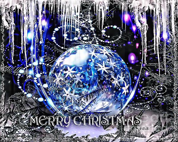 Merry Christmas Print by Mo T