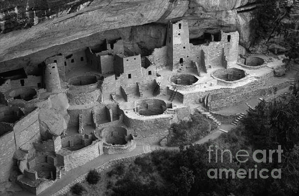 Mesa Verde Monochrome Print by Bob Christopher